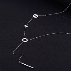 Jewelry - Silver love lariat pendant necklace
